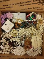 12 Pounds VTG to Now Tangled Broken Junk Craft Repurpose Harvest Jewelry Lot #1