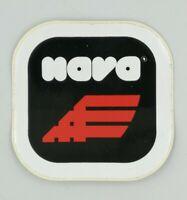 Adesivo Nava Sfondo Nero Scritta Bianca Rossa 6,5 cm Sticker Vintage 5p