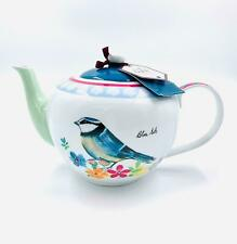 The English Tableware Garden Birds 6Cup Porceline Teapot, English Teapot Tea pot