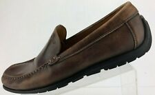 Ecco Driving Shoes Comfy Brown Leather Moccasin Moc Toe Loafers Mens 46 12,12.5