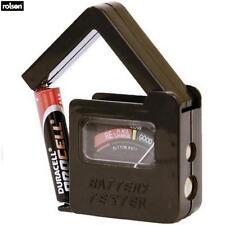 Rolson Universal Probador de Batería HAZLO TÚ MISMO herramientas y accesorios de garaje hogar NUEVO