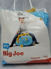 My Big Joe blue dinosaur Bagosaurs Kids Floor Pillow Bean Bag Beanbag chair