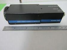 MICROSCOPE INSPECTION VIDEO CAMERA CCD SONY XC-37 + DC-37 OPTICS AS IS BIN#N4-21