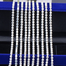 Clear Rhinestone Cup Chain BULK Wholesale  2mm Jewelry Making Supplies 11 Yards