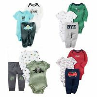 Carter's 3 Piece Bodysuits and Pants Set for Baby Boys