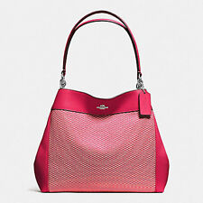 Coach Bag F57540 Lexy Shoulder in Legacy Jacquard Bright Pink Agsbeagle