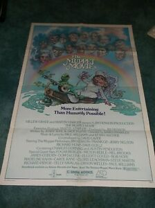 """THE MUPPET MOVIE(1979)JIM HENSON ORIGINAL ONE SHEET POSTER 27""""BY41"""" NICE!"""