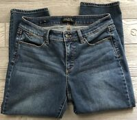 Women's Talbots Petites Flawless Five-Pocket Curvy Stretch Crop Jeans Size 6P