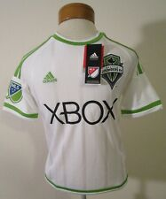 NWT Adidas Seattle Sounders FC Youth 2016 Secondary Replica Jersey XL White $65