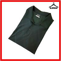 Nike Mens Golf Dri-Fit Polo Shirt XL Black Micro Print Lightweight
