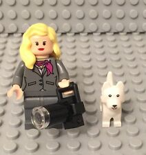 Lego New City Female Mini Figure Flesh Head,hands,long Lens camera,Terrier Dog