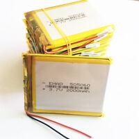 10 pcs 2000mAh Battery LiPo Li-Polymer 3.7V For DVD GPS PAD mobile phone 505060