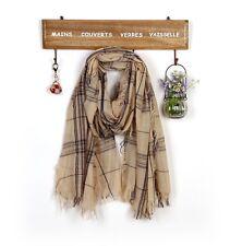 Fashion Mens Womens Blanket Oversized Plaid Check Fringe Long Scarf Shawl  M10