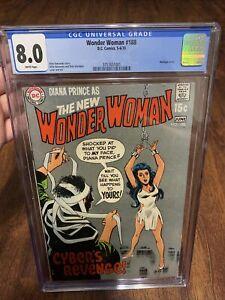 Wonder Woman #188 CGC 8.0 1970 Bondage Cover! Dc Comics! New Slab
