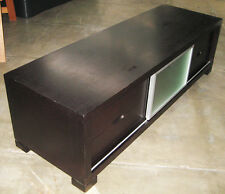 TV Cabinet Stand Entertainment Unit 180cm Wide Lowline with Sliding Front Panel
