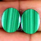 18.20 Cts 100% Natural MALACHITE Oval Pair Cabochon 12x16x3 mm Loose Gemstones