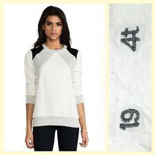 19 4t $165 tritone diamond paneled crewneck cotton sweatshirt~XS
