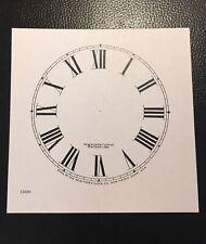 "Antique Clock Parts- Clock Dial Original New Haven  5"" - Roman And White."