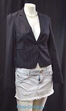 Express gangster blazer jacket top light coat crop all season Stripe Sexy 2 NEW
