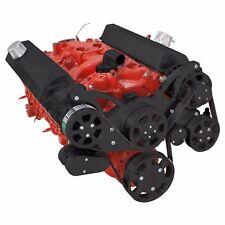 Black Sbc Serpentine Pulley Conversion Kit Small Block Chevy 350 Swp Ac Ac