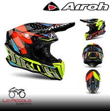 Helm Cross Enduro Airoh Twist Iron 2018 Orange Helmet Allmx TWIR32