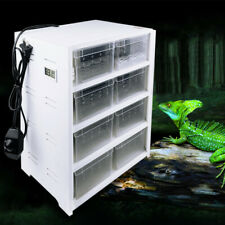Acrylic Reptile Breeding Tank For Insect Turtle Cage Pet Feeding Box Brand New !
