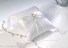 white ring bearer pillow wedding ringbearer pillow