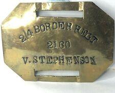 More details for ww1 2/4th border regiment bunk locker plate sign  2160 valbert stephenson