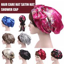 Soft Silk Satin Night Sleeping Cover Wide Band US Cap Hair Bonnet Hat Head Wrap
