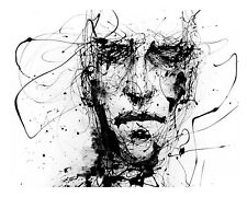 Abstract Man - Modern Art Face Painting Pattern Poster / Canvas Picture Prints