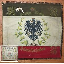 Real Ww1 World War 1 Imperial German Regiment Veterans Flag Banner Hand Painted