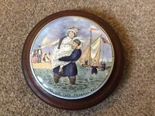 Pot Lid Coloured ,Peg well Bay Series Landing  The Fare 1850/60 With Frame