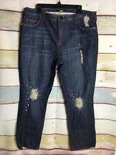 Baby Phat  Embellished distressed Jeans Womens Size 20 Red Stitching