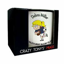Inexpensive Gift Boxed Personalised Rugby Player Mug For Women Rugby Players