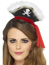 Mock Pirate Hat on Headband Adult Womens Smiffys Fancy Dress Costume Accessory