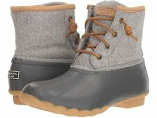Sperry Women's Saltwater Wool Embossed Thinsulate Duck Boot STS82475 - Grey NIB