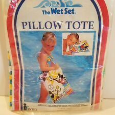 Vintage Intex Wet Set Mickey Mouse Inflatable Pillow Tote Bag Disney 1993