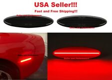 Smoked Lens Rear Red Led Side Marker Lights for Chevy C5 Corvette 1997 - 2004