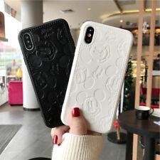 Cute fr iPhone Xs Max X 8 7 Minnie Mickey Disney Case PU Leather Soft Back Cover