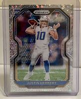2020 Panini Prizm Rookie Justin Herbert No Huddle Silver Disco Prizm RC Chargers
