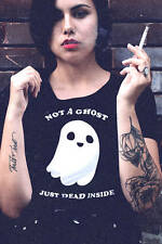 Pastel Goth Shirt, Not a Ghost Dead Inside Shirt, Boho Festival Fashion T Shirts