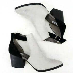 New The Buckle x Not Rated Gray Black Cut Out Suede Booties Womens US 6 - 9.5