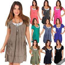 Kurzarm Damenkleider im Tuniken-Stil für die Freizeit