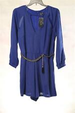 LD1 City Chic Womens Plus Belted Open Shoulder Short Jumpsuits NWT Size 18W $99
