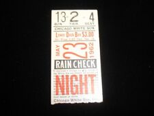 May 23, 1962 Cleveland Indians @ Chicago White Sox Ticket Stub EX