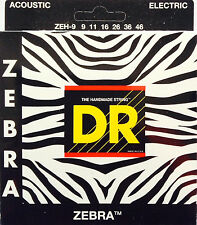 DR Zebra Acoustic-Electric Guitar Strings ZEH-9 lite-n-hvy 9-46
