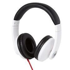 Groov-e GV9200 Single Cord Powerful Classic Studio Over-Ear Headphones White New