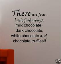 CHOCOLATE QUOTE VINYL WALL ART STICKER BEDROOM LOUNGE