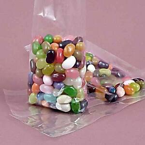 """100 Qty. 5""""x 3""""x 15"""" Crystal Clear Cello Gusset Bags"""