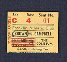 1951 Joe Brown Tommy Campbell Battiste Joseph Caesar Banks Felton boxing ticket